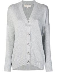 MICHAEL Michael Kors - Embellished Button Cardigan - Lyst