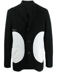 Yohji Yamamoto カラーブロック ジャケット - ブラック