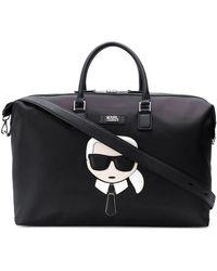 Karl Lagerfeld K/ikonik Weekender Holdall - Black