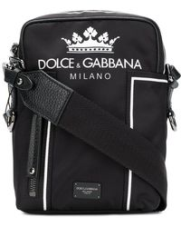 cea621e5e6 Dolce & Gabbana - Logo Shoulder Bag - Lyst