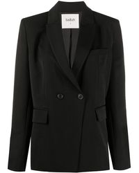 Ba&sh Plain Single Breasted Blazer - Black