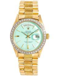 Rolex Наручные Часы Day Date 36 Мм 1960-х Годов - Синий