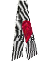 25bb63035 Burberry Heart Print Check Scarf With Cashmere And Silk - Lyst