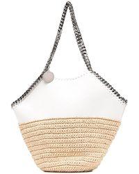 Stella McCartney Bolso de hombro Falabella con paneles - Blanco