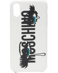 Moschino - Logo Eye Print Iphone X Case - Lyst