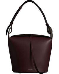 Burberry De Middelgrote Leren Bucketbag - Rood