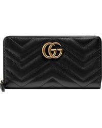 Gucci GG Marmont Portemonnee - Zwart