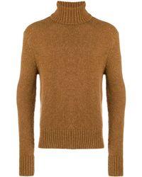 AMI Turtle Neck Sweater - Brown