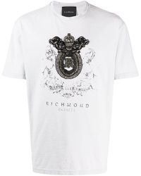 John Richmond - ビーズ クレスト Tシャツ - Lyst