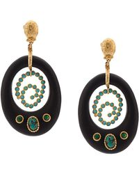 Gas Bijoux - Embellished Drop Earrings - Lyst