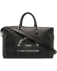 Karl Lagerfeld Rue St Guillaume Weekender Tote - Black