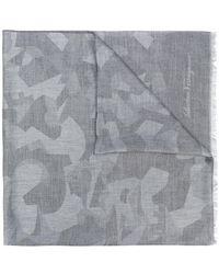Ferragamo - Camouflage Print Scarf - Lyst