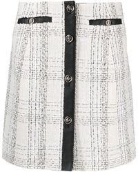 Ferragamo Contrasting-trim Check-print Skirt - Multicolor