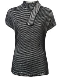 Narciso Rodriguez - Striped Shortsleeved Jumper - Lyst