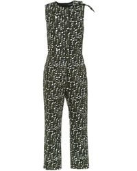 Andrea Marques Printed Jumpsuit - Black