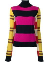 Colville Stripe-print Roll-neck Sweater - Multicolour