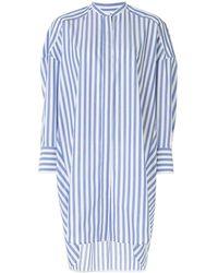 Enfold オーバーサイズ シャツ - ブルー