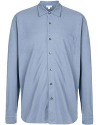 Sunspel クラシックシャツ - ブルー