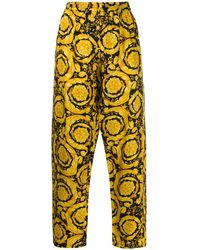 Versace Пижамные Брюки С Принтом Baroque - Желтый