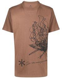 Snow Peak グラフィック Tシャツ - ブラウン