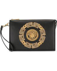 Versace - Клатч С Вышивкой Medusa - Lyst