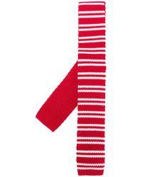 Church's Striped Skinny Scarf - Red