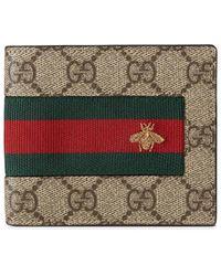 Gucci - Web GG Supreme Wallet - Lyst