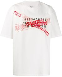 Maison Margiela プリント Tシャツ - ホワイト