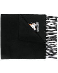 Moschino テディベア スカーフ - ブラック
