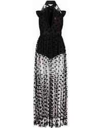 RED Valentino ポルカドット イブニングドレス - ブラック