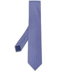 Hermès 2000s Pre-owned Jacquard H Motif Tie - Blue
