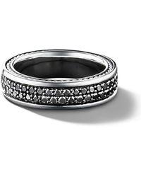 David Yurman Anello con pavé di diamanti - Nero