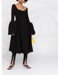 A.W.A.K.E. MODE プリーツ ドレス - ブラック