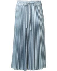 RED Valentino - Pleated Midi Skirt - Lyst