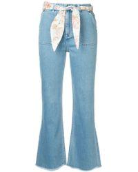 Zimmermann Bowie Cropped Jeans - Blue