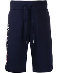Polo Ralph Lauren Shorts running con logo laterale - Blu