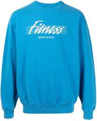 Sporty & Rich Jersey con logo estampado - Azul