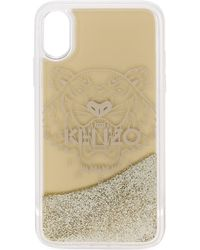 KENZO IPhone X/Xs-Hülle mit Tiger - Mettallic