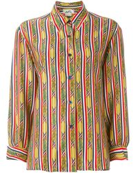 Hermès Pre-owned bamboo print shirt - Multicolore