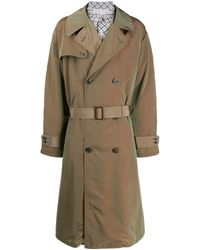 Maison Margiela Double-breasted Trench Coat - Green