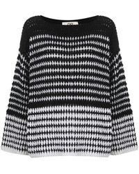 SMINFINITY ストライプ セーター - ブラック