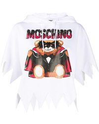 Moschino Sudadera con capucha y motivo de osito - Blanco