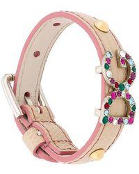 Dolce & Gabbana - Dg Crystal Detail Bracelet - Lyst