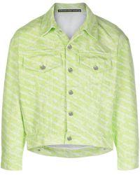 Alexander Wang Джинсовая Куртка С Логотипом - Зеленый