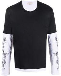 Alexander McQueen - レイヤード ロングtシャツ - Lyst