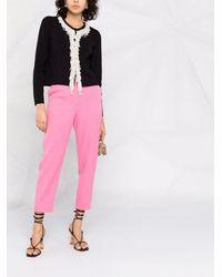 Giambattista Valli Pearl-embellished Long-sleeve Cardigan - Black