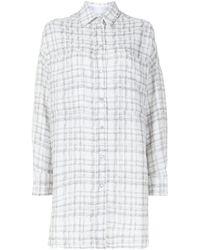IRO チェック シャツ - ホワイト