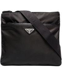 Prada Umhängetasche mit Reißverschlusstasche - Schwarz