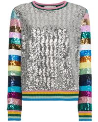 Mary Katrantzou - Magpie Sequin Embellished Top - Lyst