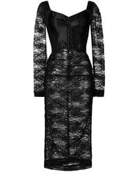 Dolce & Gabbana Midi Jurk Met Kant - Zwart